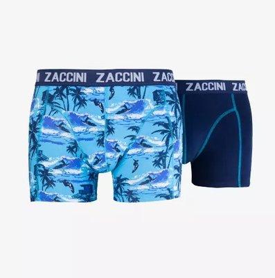Zaccini 2-pack Heren boxershorts  Blue/White