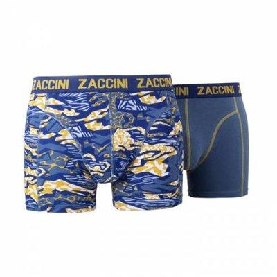 Zaccini 2-pack Heren boxershorts  Smokey Grey/Yellow