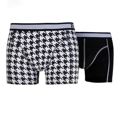 Zaccini 2-pack Heren boxershorts  Black/White