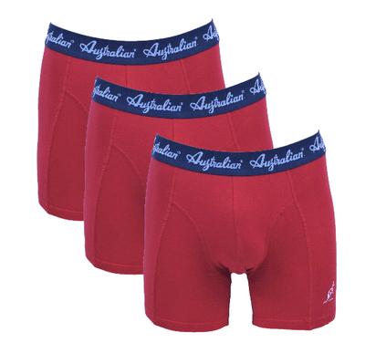 3-Pack Australian Heren boxershorts Rood