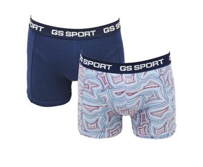 GS Sport 2-Pack Heren boxershorts Blauw/Golf