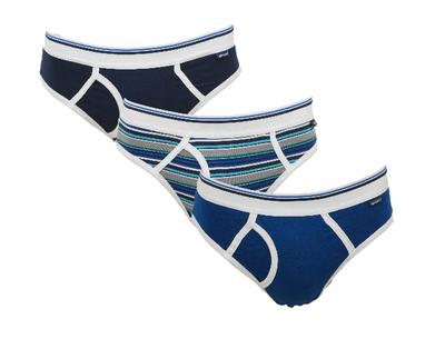 Gino Santi Sport 3-pack Jongens slips met gulp Blauw