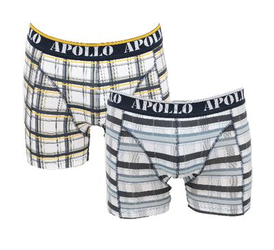 Apollo 2-Pack Heren boxershorts Groen/Geel