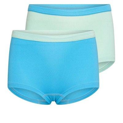 2 pack Beeren Mix&Match meisjes boxershorts Mint/Turqouise
