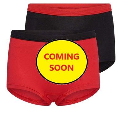 Beeren Mix&Match meisjes boxershorts Rood/Zwart