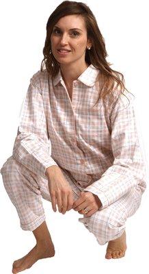 Cocodream Flanel Pyjama Ruit Oudroze