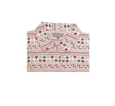 Cocodream Flanel Pyjama Hart Roze