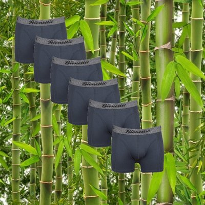 6-Pack Gionettic Bamboe Heren boxershorts Antraciet
