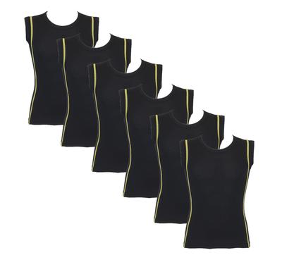 Beeren 6-Pack Jongens mouwloze shirts B.Y. Ricardo Geel