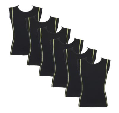 Beeren 6-Pack Jongens mouwloze shirts B.Y. Ricardo Groen