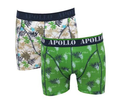 Apollo 2-Pack Heren boxershorts Groen/Bruin
