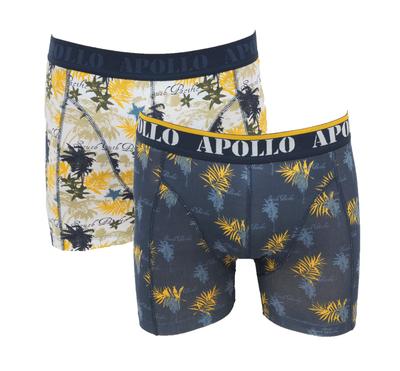 Apollo 2-Pack Heren boxershorts Grijs/Oranje