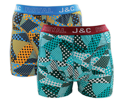 J&C 2-pack Heren boxershorts H230-30040