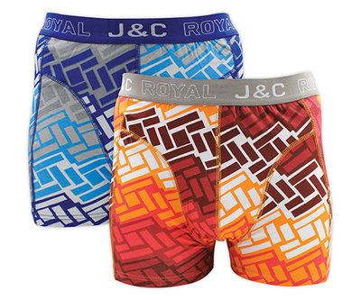 J&C 2-pack Heren boxershorts H227-30033