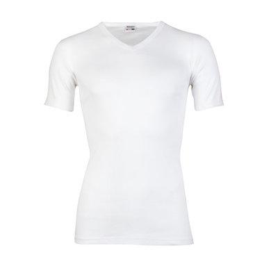 Beeren Heren V-hals T-shirt Korte Mouw M3000 Wit