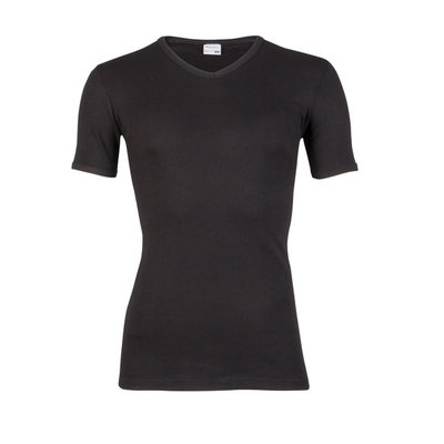 Beeren Heren V-hals T-shirt Korte Mouw M3000 Zwart