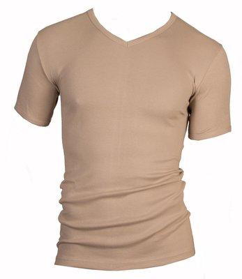 Beeren Heren V-hals T-shirt Korte Mouw M3000 Huid