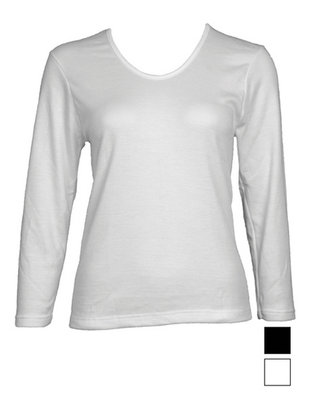 Beeren Thermo dames shirt lange mouw Wolwit