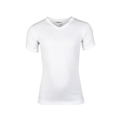 Beeren Jongens V-hals T-shirt Korte Mouw Wit