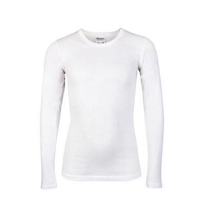 Beeren Jongens ronde hals T-shirt Lange Mouw Wit