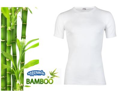 Beeren Bamboe heren T-shirt Korte Mouw Wit