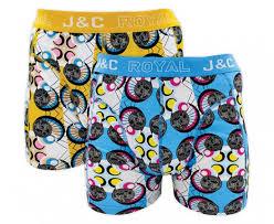 J&C 2-pack Heren boxershorts H222-30021 Geel/Blauw