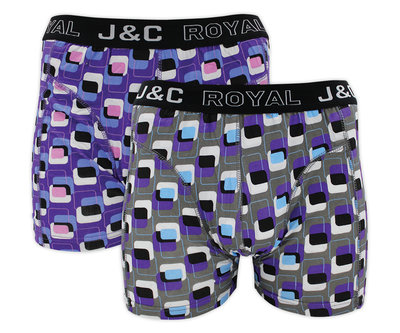 J&C 2-pack Heren boxershorts H216-30008