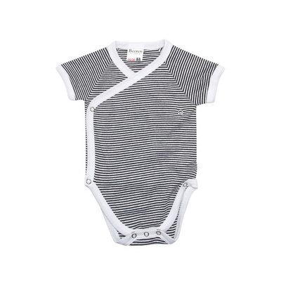 Beeren Baby overslagromper Zwart/Wit