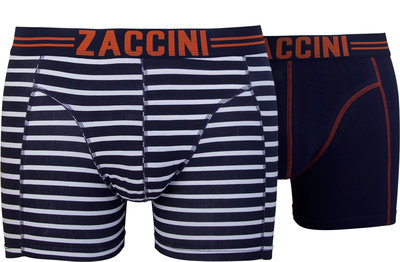 Zaccini 2-pack Heren boxershorts Stripe Navy/White