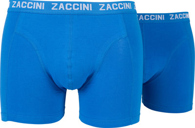 Zaccini 2-pack Heren boxershorts Kobalt Royal