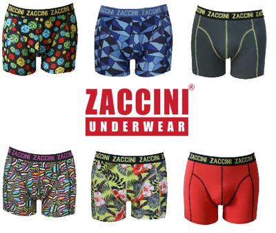 Zaccini 6-pack Heren boxershorts Asssorti Maat XXL