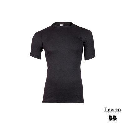 Beeren Heren Thermo hemd korte mouw Zwart