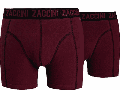 Zaccini 2-pack Heren boxershorts Ruby Red