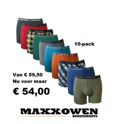 Maxx Owen 10-pack heren boxershorts mix