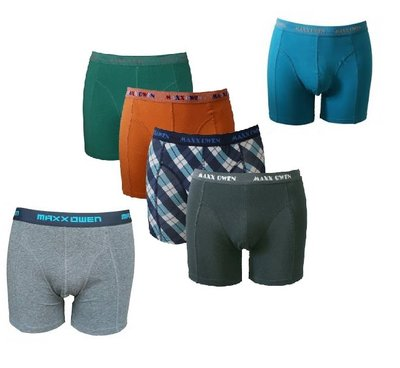 Maxx Owen 6-pack heren boxershorts mix