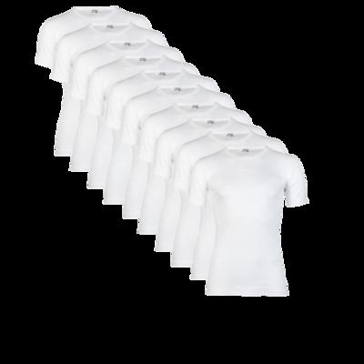 Beeren 10-Pack Heren T-shirts Korte Mouw M3000 Wit