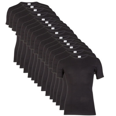 Beeren 15-Pack Heren T-shirts Korte Mouw M3000 Zwart