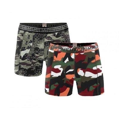 Muchachomalo 2-pack Heren boxershorts Army
