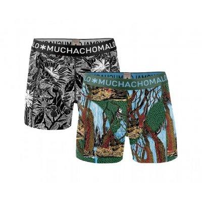 Muchachomalo 2-pack Heren boxershorts Wood