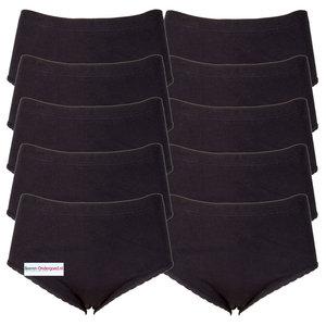 Beeren 10-Pack dames slips Belinda Zwart (Taille)