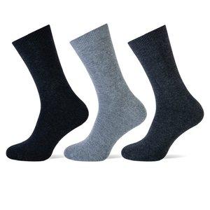Teckel 3-Pack heren sokken Antraciet assorti