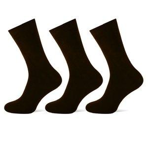 Teckel 3-Pack dames sokken Zwart