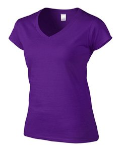 Softstyle Dames T-shirt met V-Hals Purple
