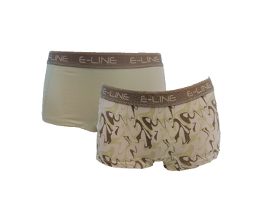 2-pack E-Line dames boxershort Groen/Golf
