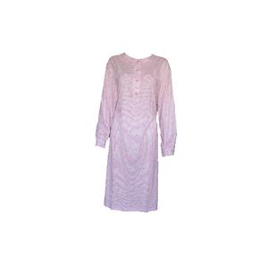 Cocodream Dames nachthemd met lange mouw Roze Hartjes