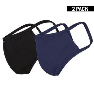 Beeren Heren 2-Pack Mondkapjes Zwart/Donkerblauw maat M
