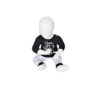 """Beeren Baby pyjama """"To the Moon"""" Zwart"""
