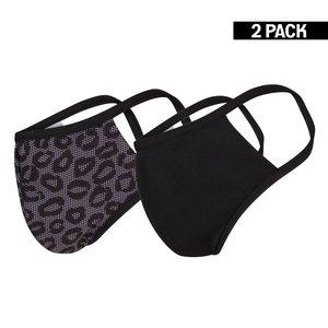 Beeren Dames 2-Pack mondkapjes Lace/Zwart maat S
