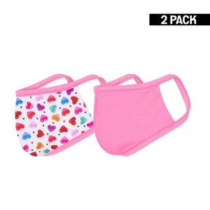 Beeren Meisjes 2-Pack Mondkapjes Hearts/Felroze 4-9 jaar