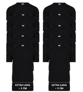Beeren 10-Pack extra lange heren T-shirts met O-Hals M3000 Zwart